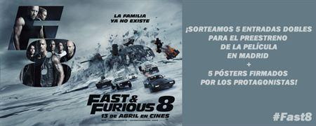 ¡SORTEAMOS 5 ENTRADAS DOBLES PARA EL PREESTRENO DE 'FAST&FURIOUS 8