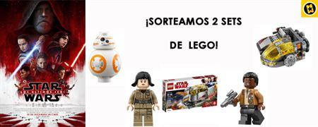 ¡SORTEAMOS 2 SETS DE LEGO 'STAR WARS: LOS ÚLTIMOS JEDI