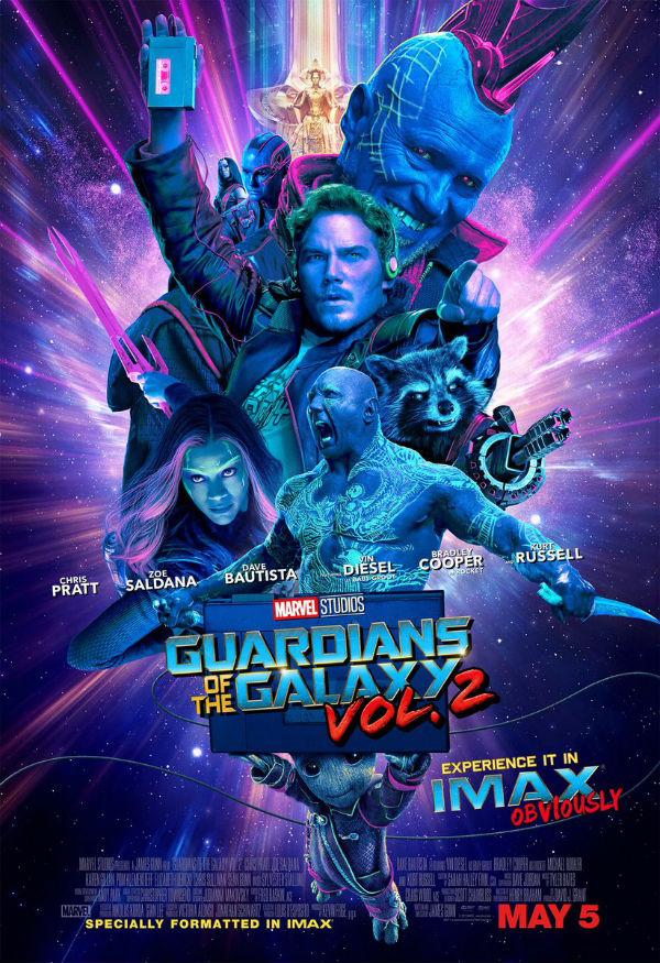 Resultado de imagen para Guardianes de la galaxia Vol. 2 movie poster