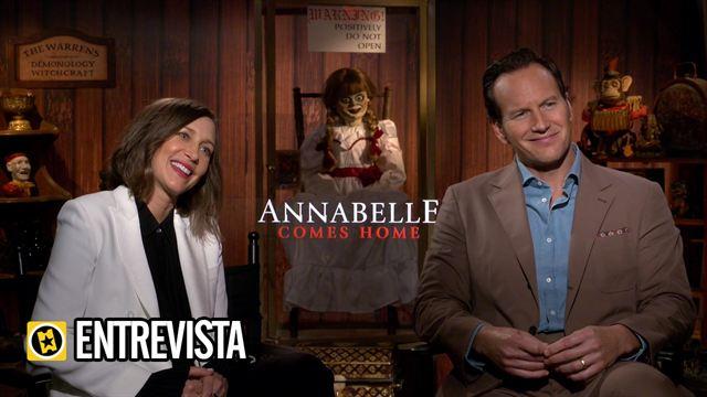 Gary Dauberman, Vera Farmiga, Mckenna Grace, Madison Iseman, Katie Sarife Interview : Annabelle vuelve a casa