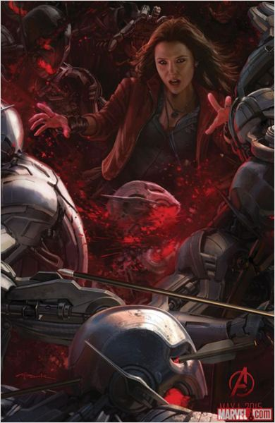 Vengadores: La era de Ultrón : Couverture magazine Elizabeth Olsen