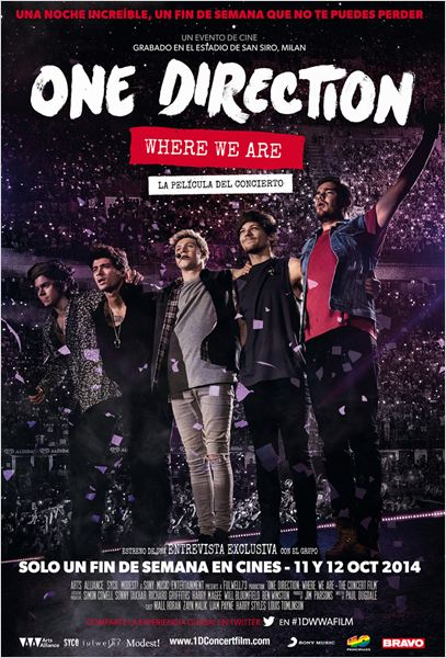 One Direction: Where We Are - La película del concierto : Cartel
