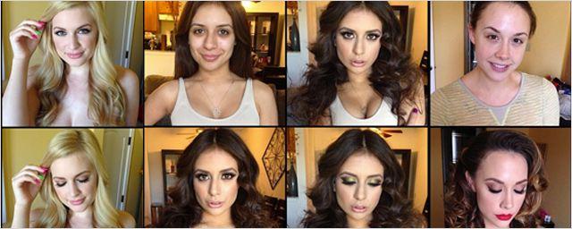 25 de las mejores actrices porno antes y después de maquillarse