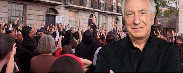 Fans de 'Harry Potter' homenajean a Alan Rickman en el parque temático de Orlando