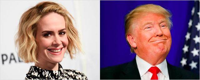 'American Horror Story': A Sarah Paulson le encantaría interpretar a Donald Trump en la séptima temporada