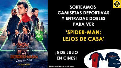 ¡SORTEAMOS CAMISETAS DEPORTIVAS Y ENTRADAS DOBLES PARA VER 'SPIDER-MAN: LEJOS DE CASA'!