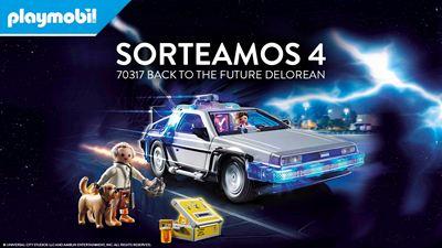 Sorteamos 4 packs de Playmobil 'Back to the Future DeLorean'