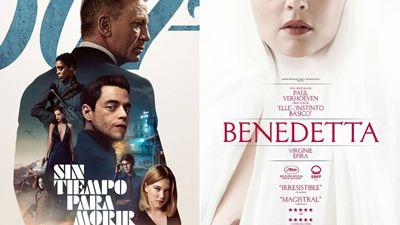'Sin tiempo para morir' y 'Benedetta' destacan entre los estrenos de cine del fin de semana