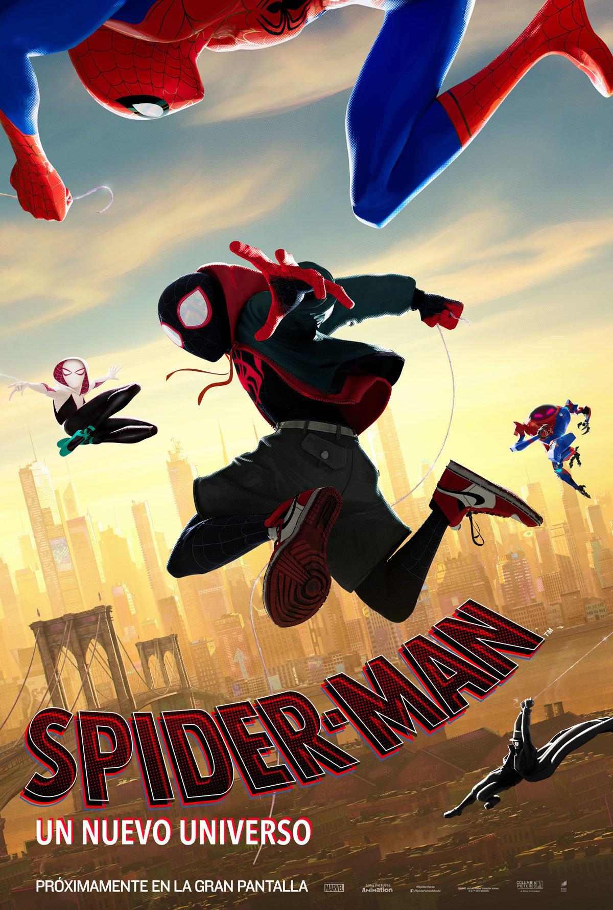 Resultado de imagen de spiderman 2018 cartel español