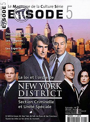 Ley y orden : Couverture magazine Jerry Orbach, Sam Waterston
