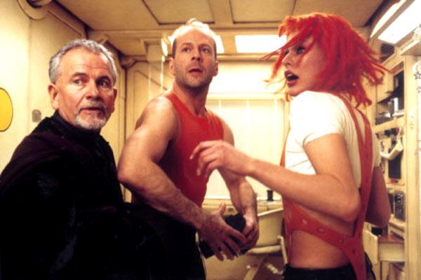 El quinto elemento: Milla Jovovich, Ian Holm, Bruce Willis
