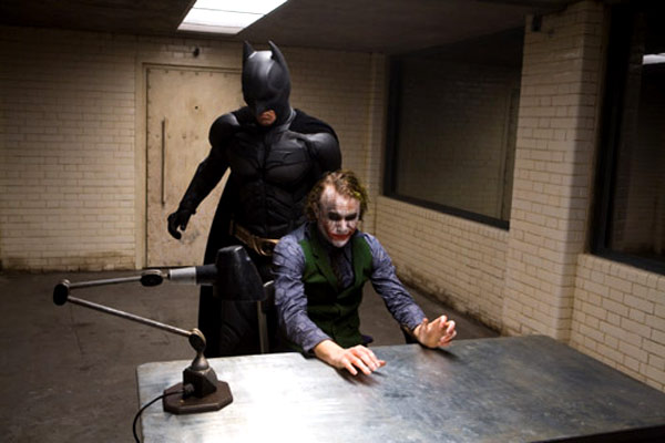 El caballero oscuro : Foto Christian Bale, Heath Ledger