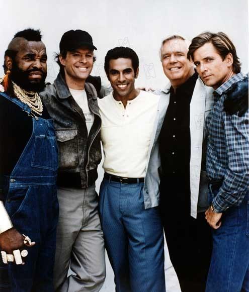 El Equipo A : Foto Dirk Benedict, Dwight Schultz, Eddie Velez, George Peppard, Mr. T