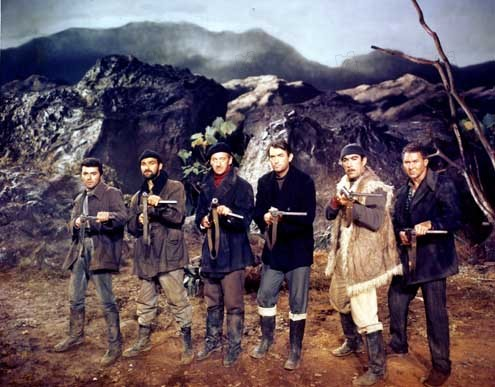 Los cañones de Navarone: David Niven, Anthony Quinn, Stanley Baker, James Darren, Jack Lee Thompson, Anthony Quayle, Gregory Peck