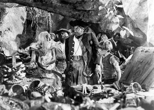 La isla del tesoro: Bobby Driscoll, Robert Newton, Byron Haskin