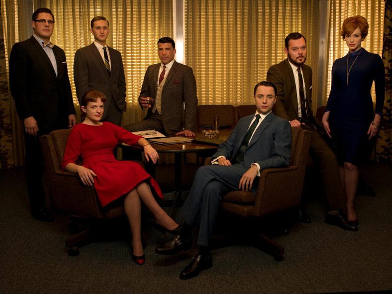 Mad Men : Foto Aaron Staton, Bryan Batt, Christina Hendricks, Elisabeth Moss, Michael Gladis