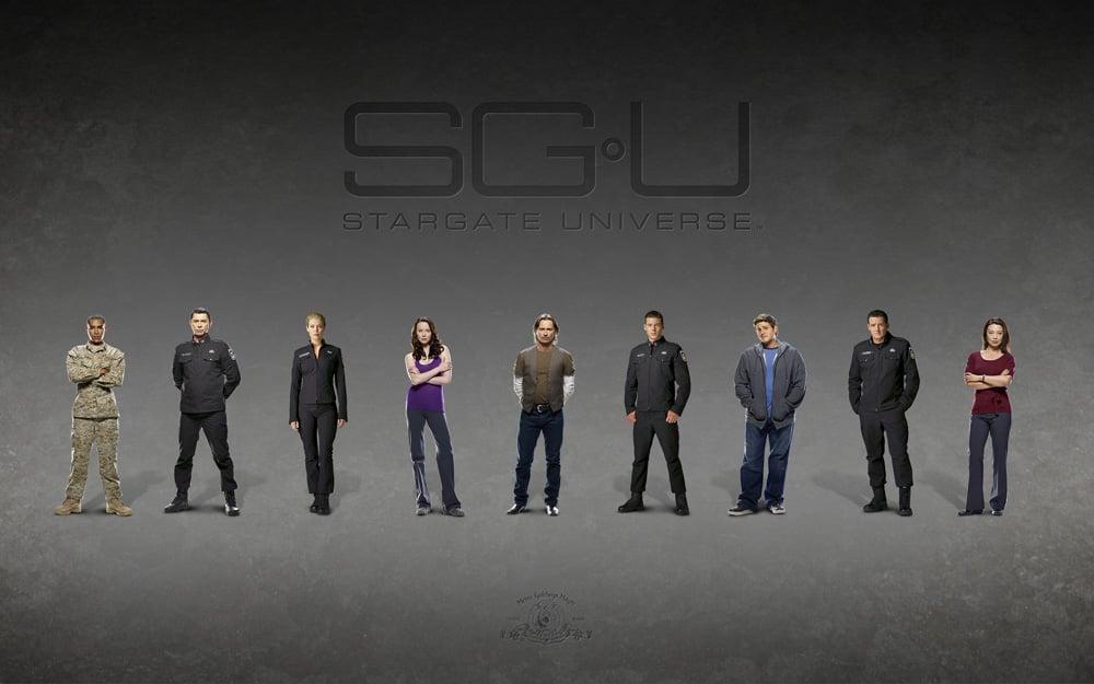 Stargate : Universe : Foto Alaina Huffman, Brian J. Smith (II), David Blue, Elyse Levesque, Jamil Walker Smith