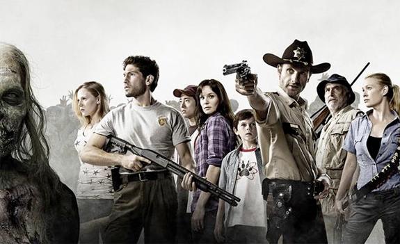 The Walking Dead : Foto Andrew Lincoln, Chandler Riggs, Emma Bell, Jeffrey DeMunn, Jon Bernthal