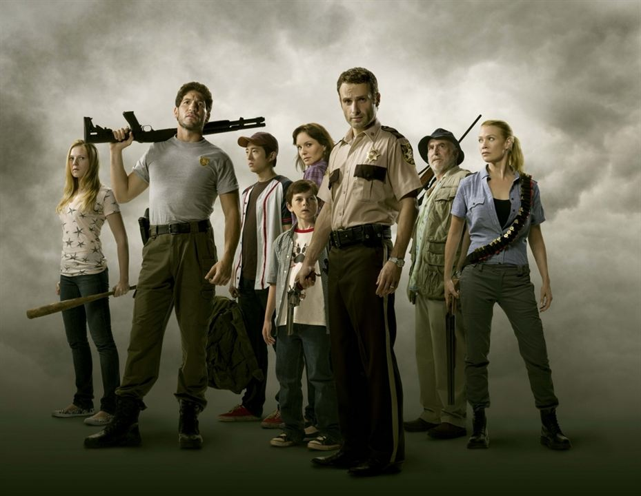 The Walking Dead : Foto Andrew Lincoln, Chandler Riggs, Emma Bell, Jon Bernthal, Laurie Holden