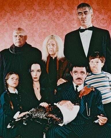 La Familia Addams : Foto Carolyn Jones, Jackie Coogan, John Astin, Ken Weatherwax, Lisa Loring