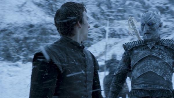 Bran se encuentra con un Caminante Blanco