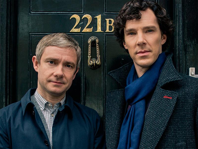 Watson y Sherlock en 'Sherlock'