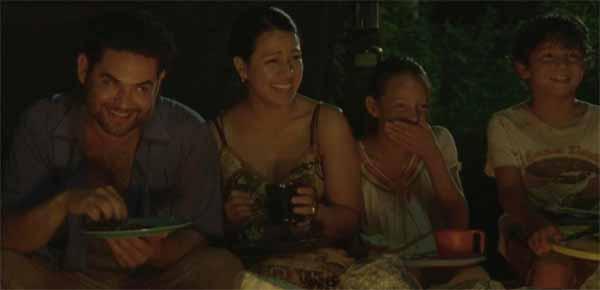 Morales y su familia