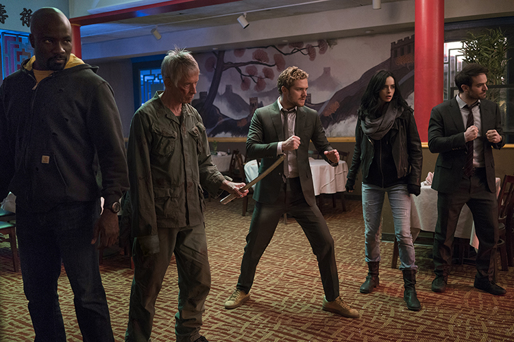 Luke Cage, Stick, Danny Rand, Jessica Jones y Matt Murdock