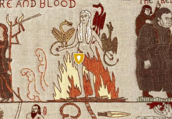 Daenerys saliendo del fuego