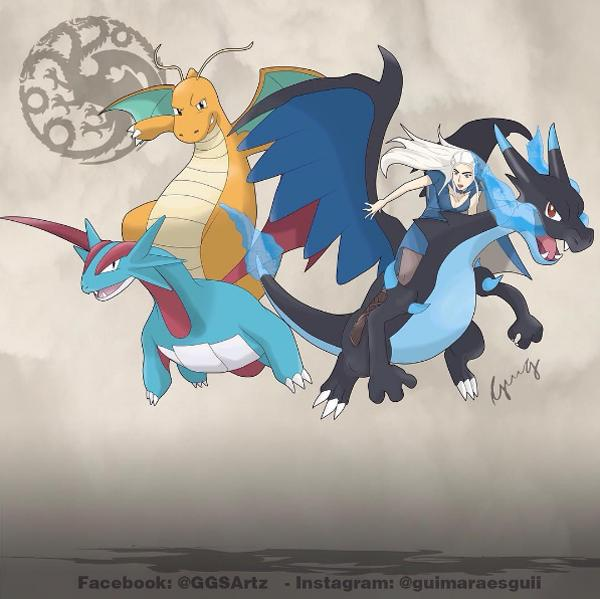 Daenerys y sus dragones