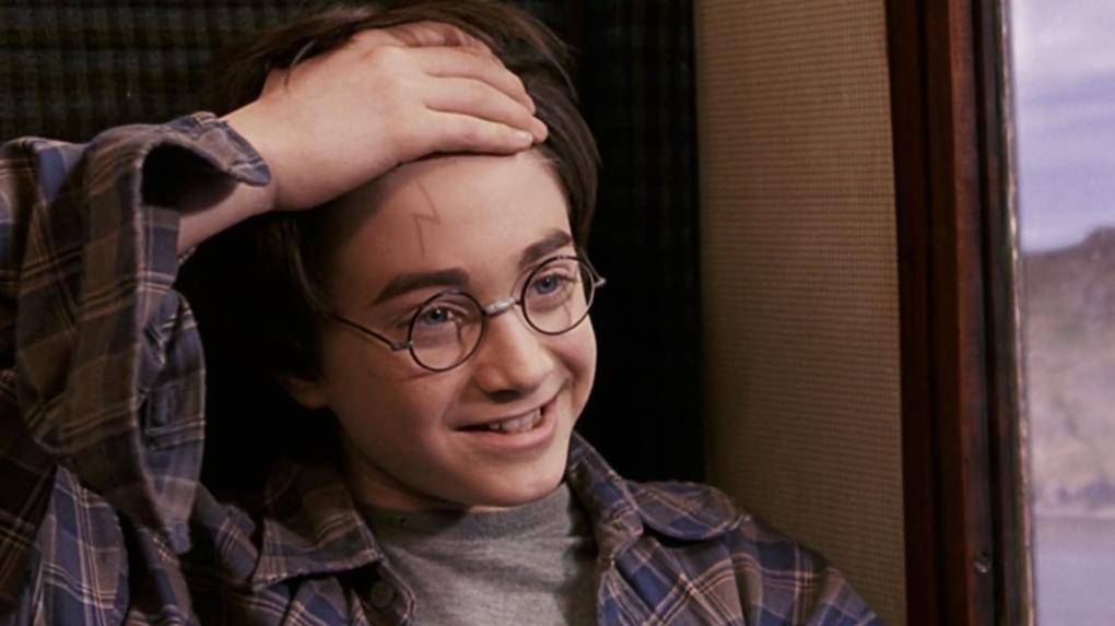 Cuando Harry conoce a Ron y Hermione