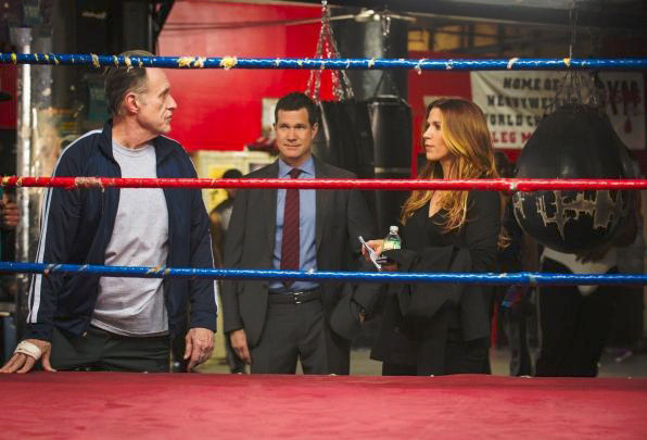 Foto Dylan Walsh, James P. Anderson, Poppy Montgomery