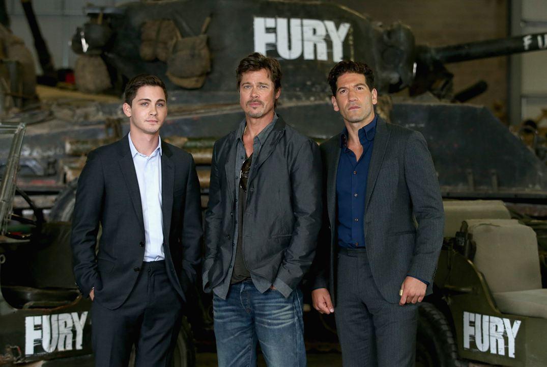 Corazones de acero : Couverture magazine Brad Pitt, Jon Bernthal, Logan Lerman