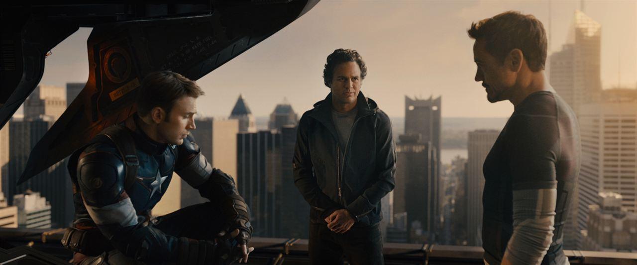 Vengadores: La era de Ultrón: Robert Downey Jr., Mark Ruffalo, Chris Evans