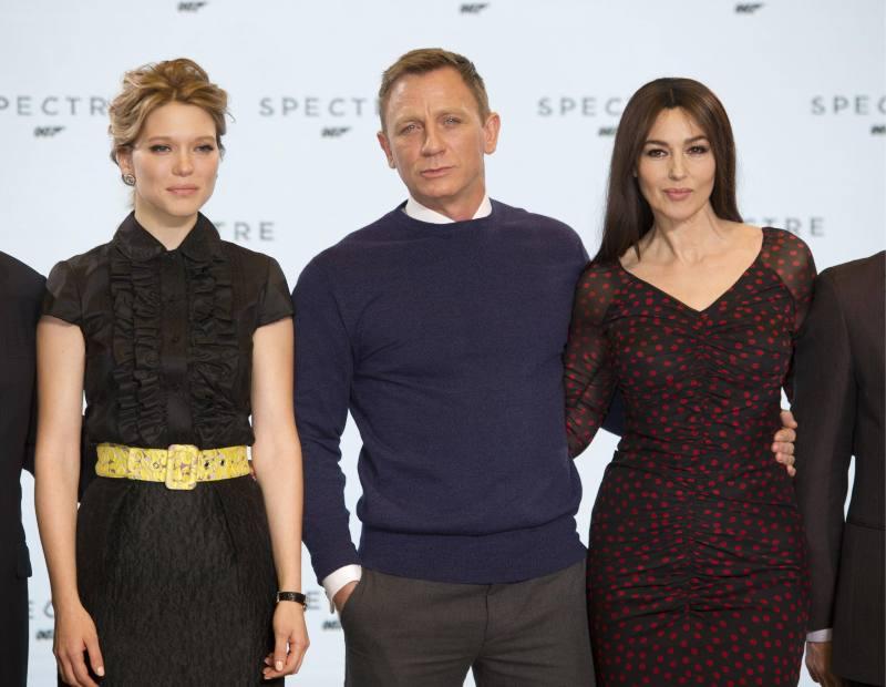 Spectre : Couverture magazine Daniel Craig, Léa Seydoux, Monica Bellucci