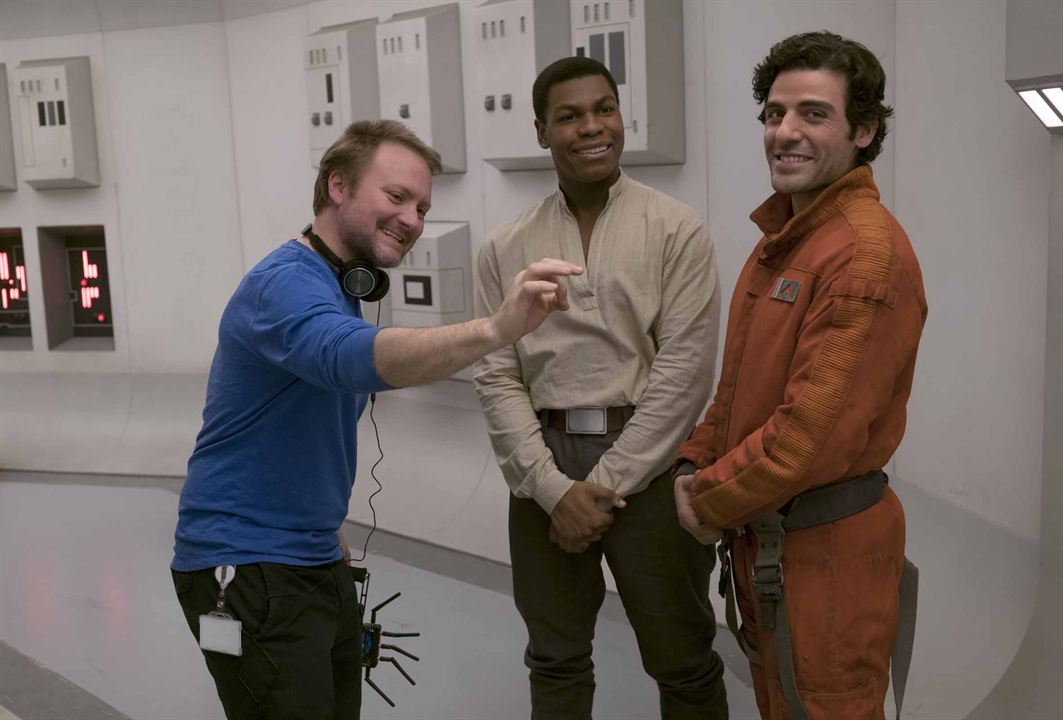 Star Wars: Los últimos Jedi : Foto John Boyega, Oscar Isaac, Rian Johnson