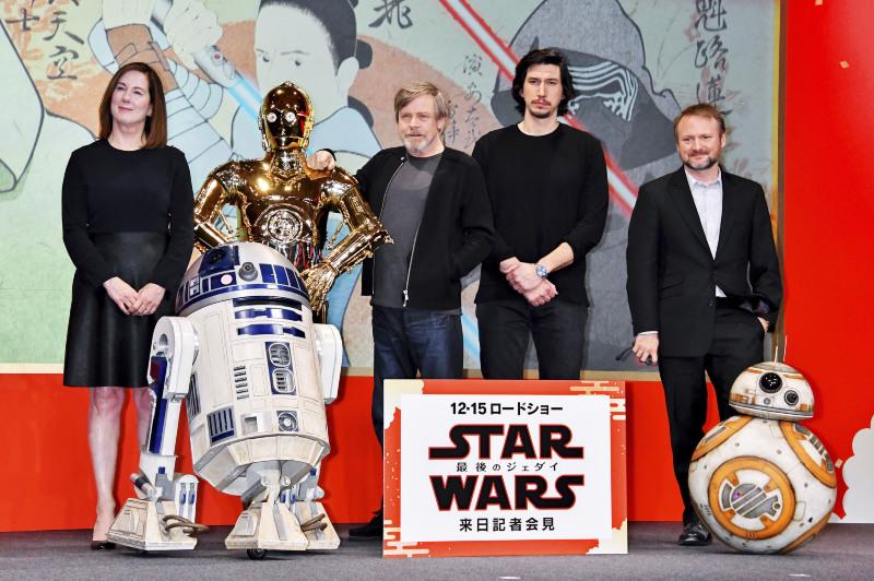 Star Wars: Los últimos Jedi: Kathleen Kennedy, Mark Hamill, Adam Driver, Rian Johnson