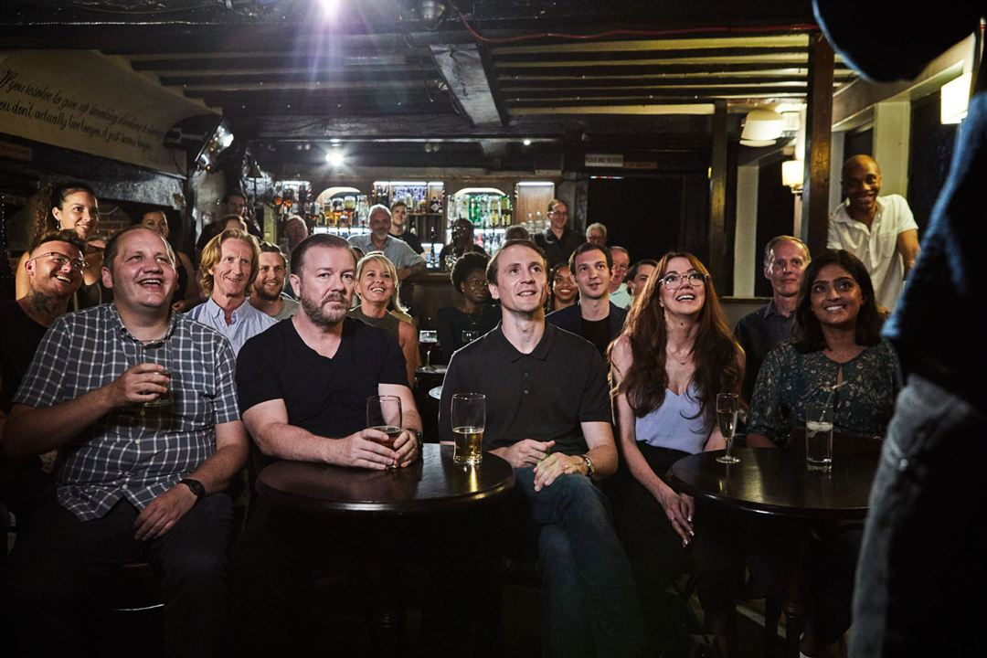 Foto Diane Morgan, Mandeep Dhillon, Ricky Gervais, Tom Basden, Tony Way