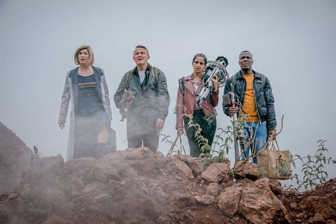 Foto Bradley Walsh (II), Jodie Whittaker, Mandip Gill, Tosin Cole